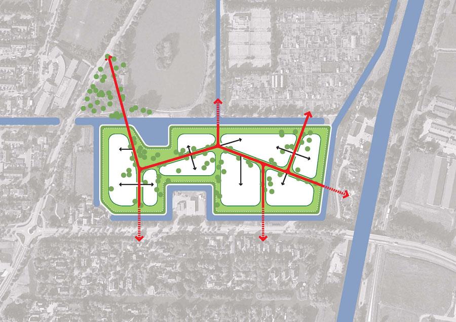 Karres En Brands Landscape Architecture Cemetery Langedijk Diagram