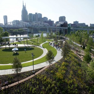 Cumberland Park demonstrates Nashville's commitment to both its children and to sustainability through brownfield remediation, floodplain preservation, stormwater harvesting, improved biodiversity, and interpretation of cultural and natural resources.