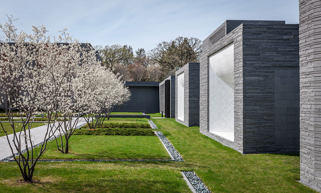 Lakewood cemetery garden mausoleum landscape by halvorson Mausoleum design