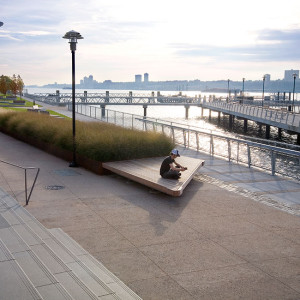 The West Harlem Piers Park is a dramatic transformation of space that had been lost to the community for many years. Our design leadership over a nine year period terminated a 30 year struggle by the community to regain their waterfront and renew their connection to the river. A narrow 69,000 sf parking lot has been expanded through creative planning into a 105,526 sf park that re-imagines the threshold between the city and the Hudson in a sustainable and meaningful way.