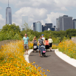 Governors Island offers a world apart from New York City, an extraordinary vantage point on New York Harbor, its icons, treasured historic landscape, and the chance to experience the sounds and smells of a green island surrounded by water. The first phase of Governors Island's new park and public space project was opened to the public in May 2014.