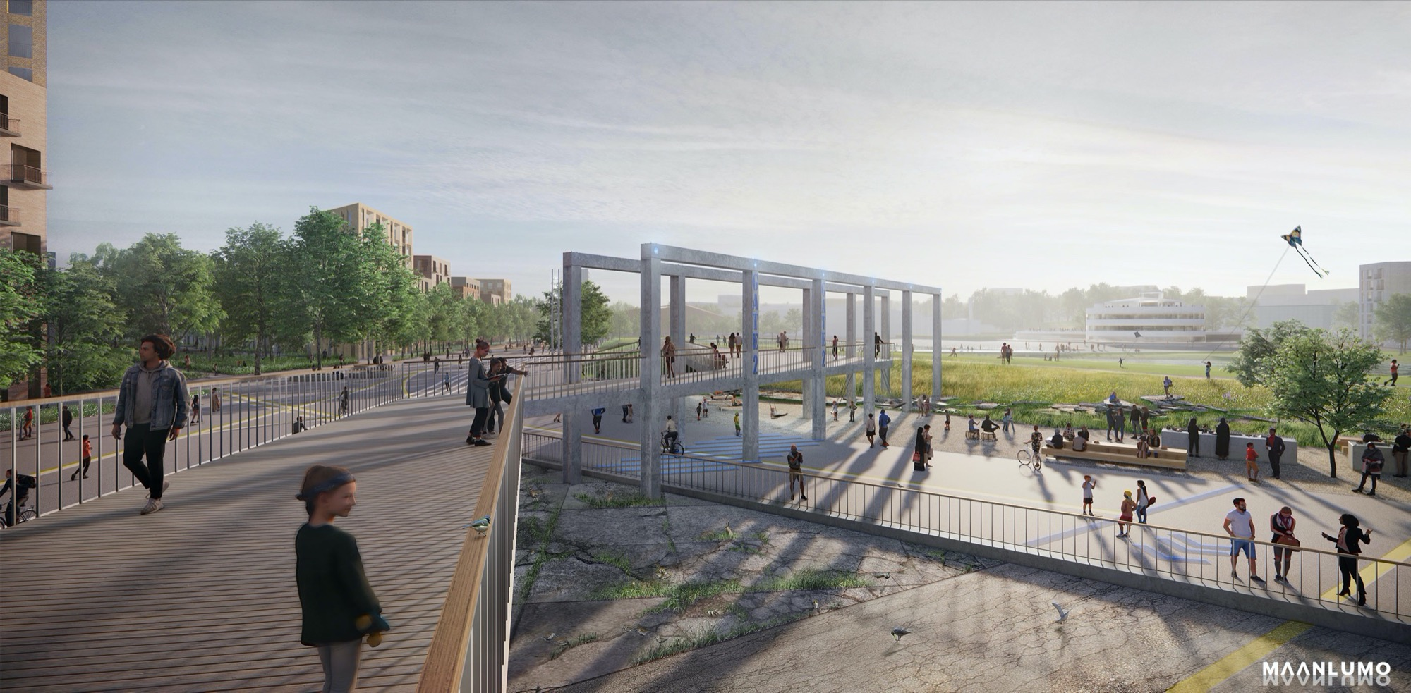 Maanlumo Wins The International Ideas Competition For Lentoasemanpuisto In Malmi With The Proposal ´Crossing Horizons´