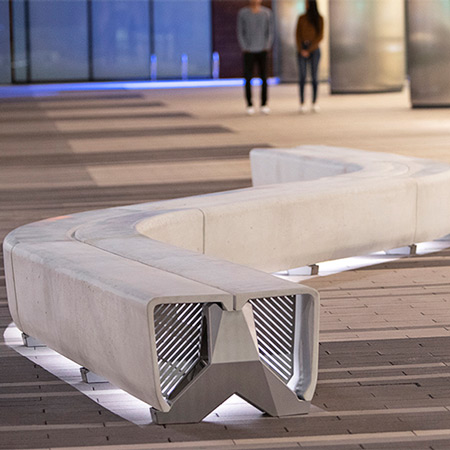 Typology ribbon bench