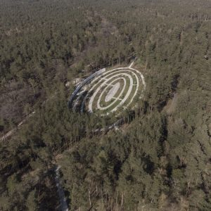 Loenen Memorial, Cemetery Design, aerial