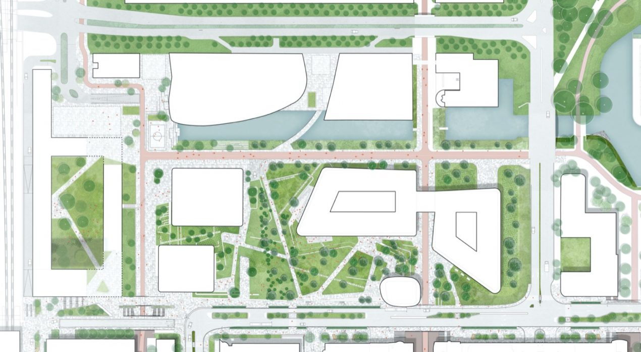 Landscape plan for the ING Headquarters