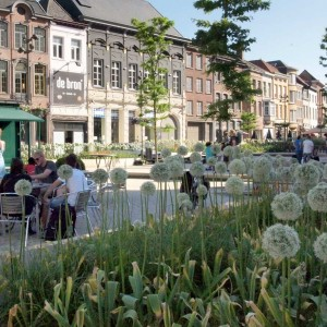 The Korenmarkt is the most urban area in this part of town where bars, restaurants and shops form the walls of the square. In the centre of the square stands a kiosk and along the edges of the square there are terraces. Emphasis is on catering and terraces. The location of the square in the city is unique.
