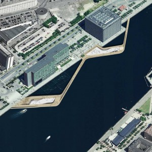 The project consists of two main plazas, which extend across the water and are positioned with regards to sunlight and wind conditions. To the south, the pier allows for a flexible public space on the water with facilities to host events related to the creative industry.