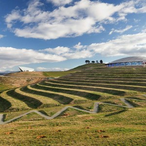 The National Arboretum Canberra redefines the meaning of a public garden in the 21st Century. It comprises 100 forests of endangered tree species from around the world on a 250 hectare former fire ravaged site.