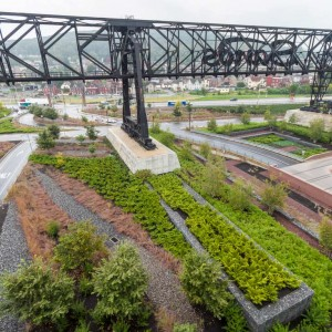 The former home of Bethlehem Steel, site of the EPA's largest brownfield conversion plan in the nation, required further consideration to improve soil pH levels and storm water runoff in preparation for its new mixed-use tenants.